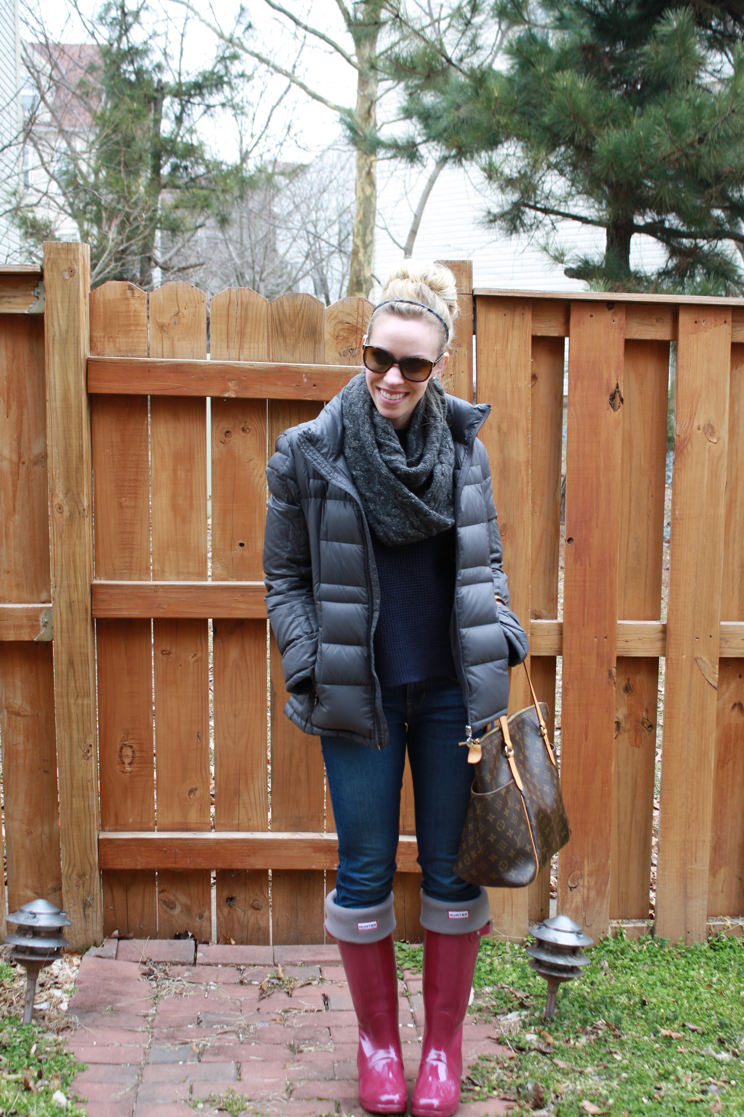 super cheap detailed look attractive price Weekend Update: Charcoal jacket & Violet Hunter boots ...