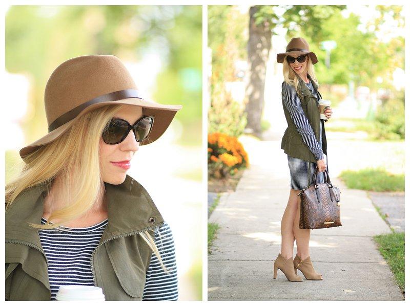 a1e7e4cfe H&M camel wool felt panama hat, Prada tortoiseshell print sunglasses ...