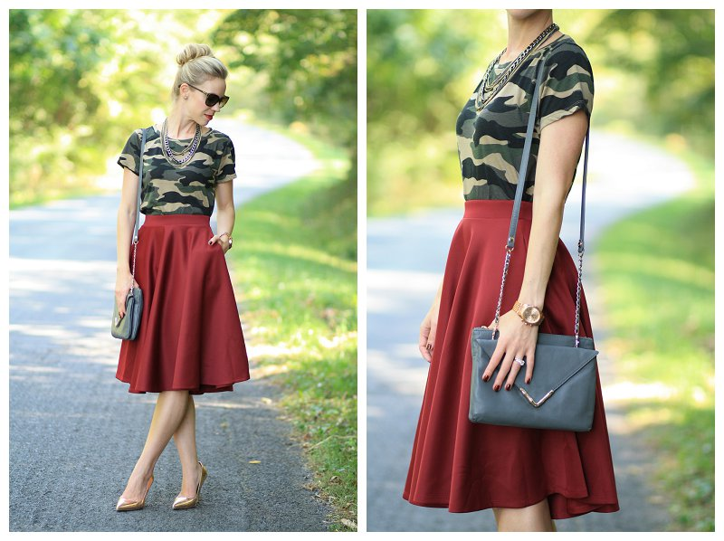 Two Ways To Wear Vintage Camo Tee Meagan S Moda