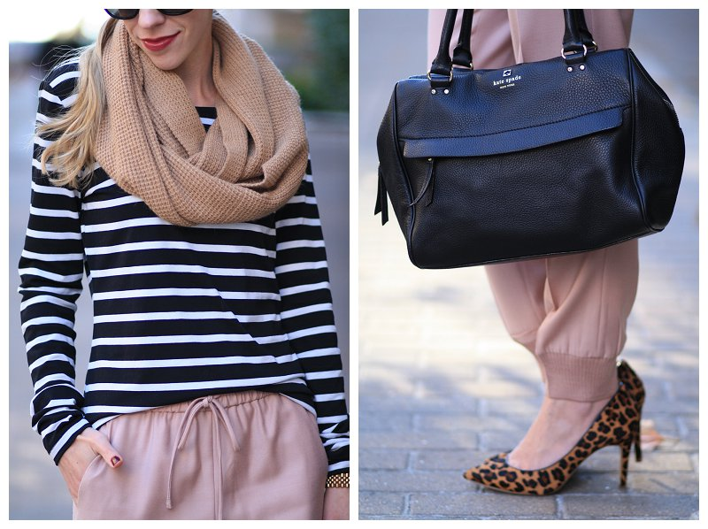 Pattern Play Black And White Stripes Blush Pink Pants Amp Leopard Pumps Meagan S Moda