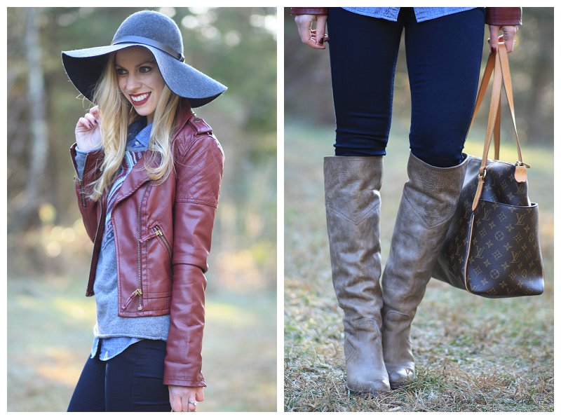Frye-Jane-Tall-gray-leather-over-the-knee-riding-boots-burgundy-leather-moto-jacket-denim-shirt-and-sweater-under-leather-jacket-gray-wool-floppy-hat-7-for