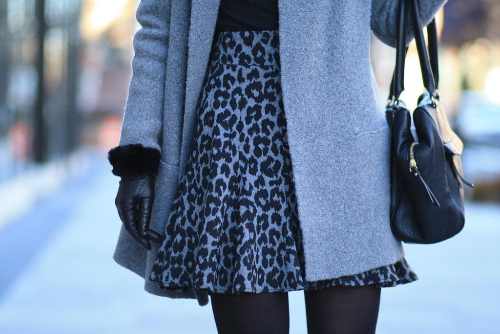 City Lights Sweater Coat Leopard Skirt Amp Knee High