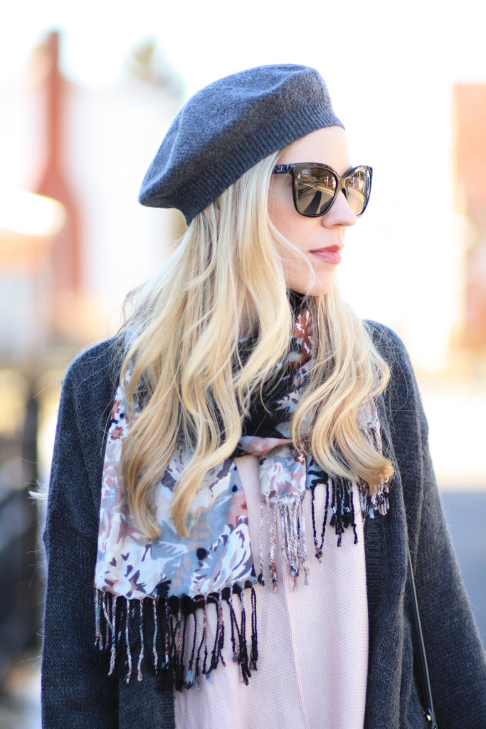 { Casual Valentine: Long cardigan, Floral print scarf ...