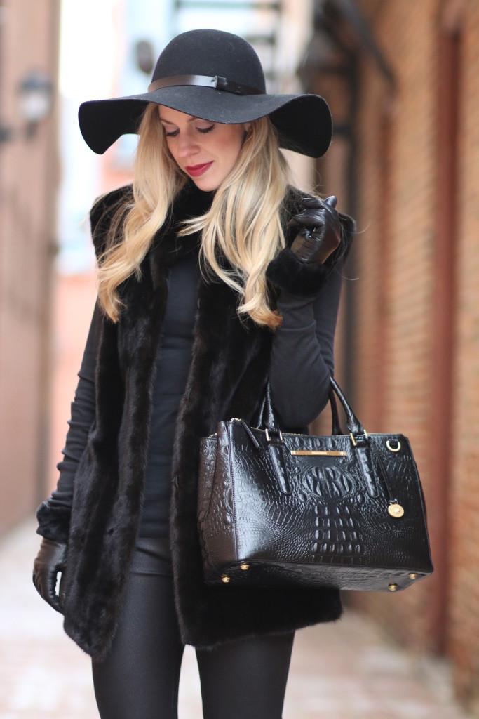 blackout vintage fur vest leather legging denim. Black Bedroom Furniture Sets. Home Design Ideas