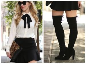 76f6b2ef6c9 Ann Taylor cream blouse with black bow tie