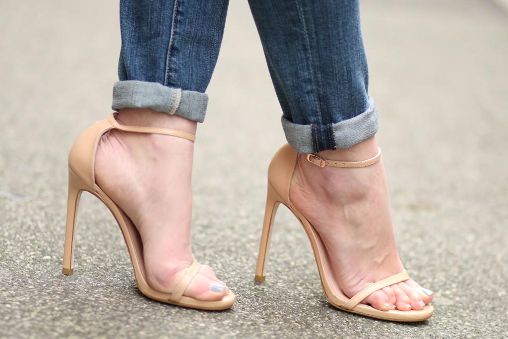 Stuart Weitzman 'Nudist' sandal adobe