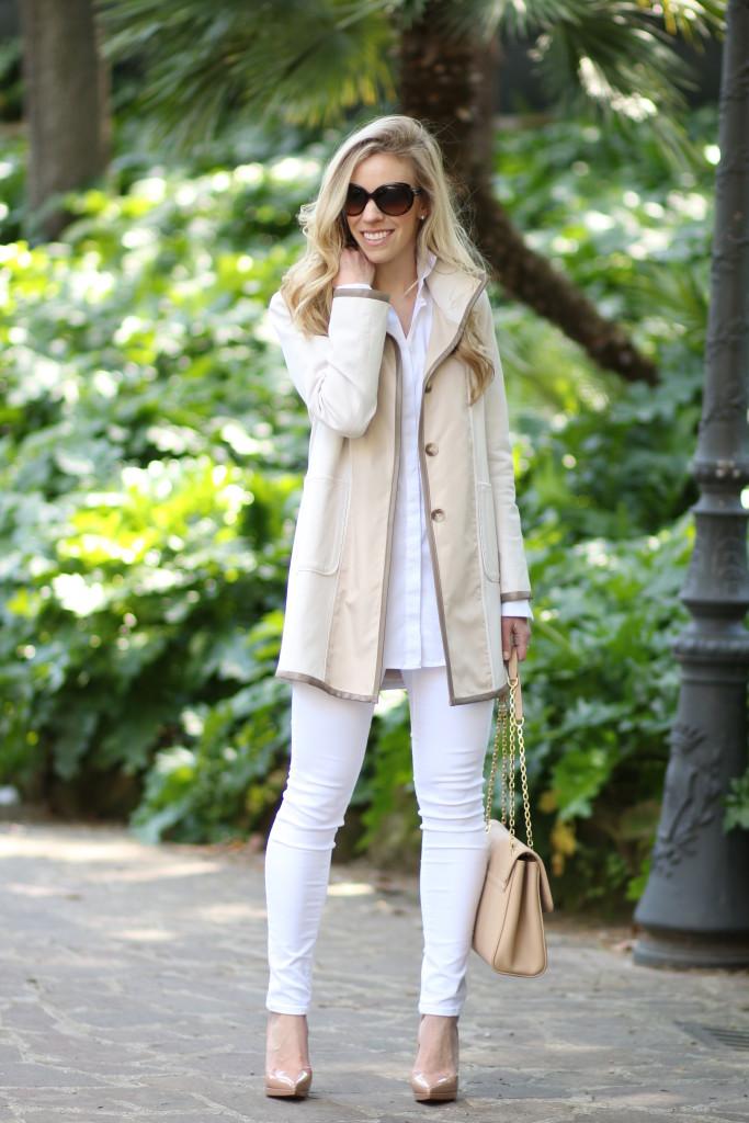 ace3d0474e Creamy Neutrals  Leather trim jacket