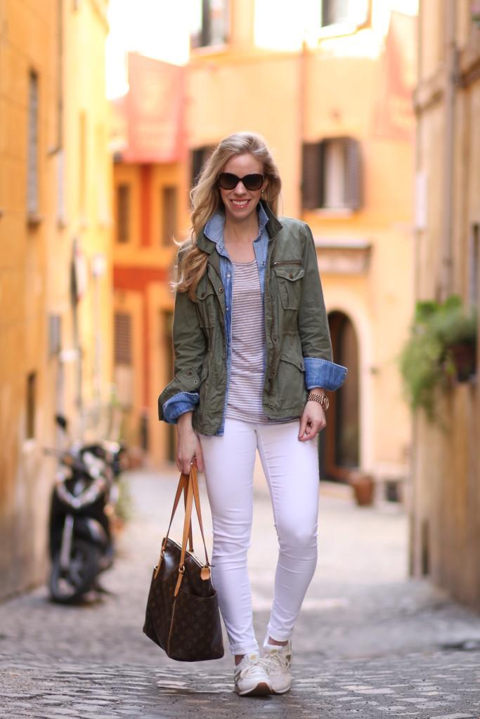 Off the Beaten Path: Olive utility jacket, Denim shirt & New Balance ...