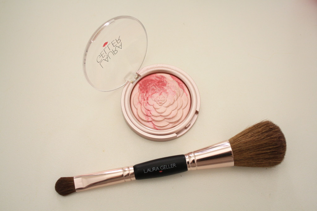 Laura Geller baked gelato blush, rosy pink blush and highlighter, QVC 'Life in Rose' beauty collection review