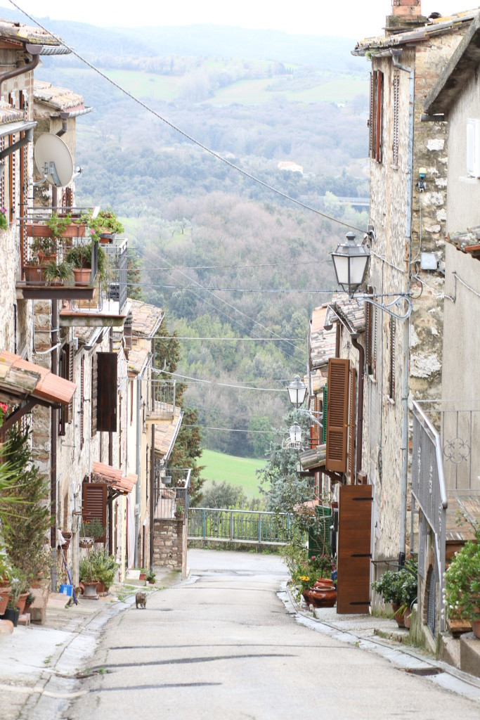 Umbrian village, Italian countryside, photography