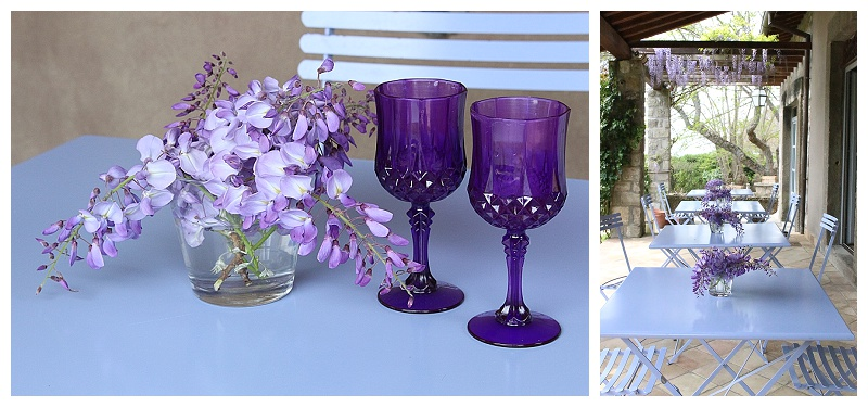 brunch in Italian countryside, Viterbo, Italy, bed and breakfast, wisteria vines, table scape inspiration for Italian theme meal, spring decor