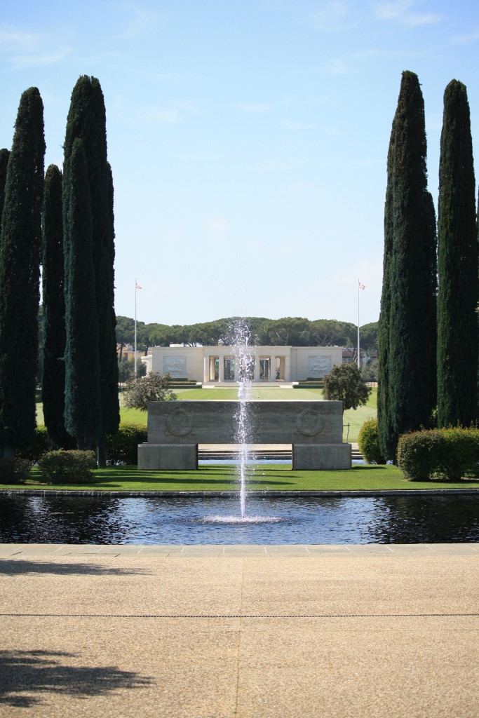 entrance to Sicily-Rome American Cemetery, Nettuno, Italian fashion blogger and travel writer