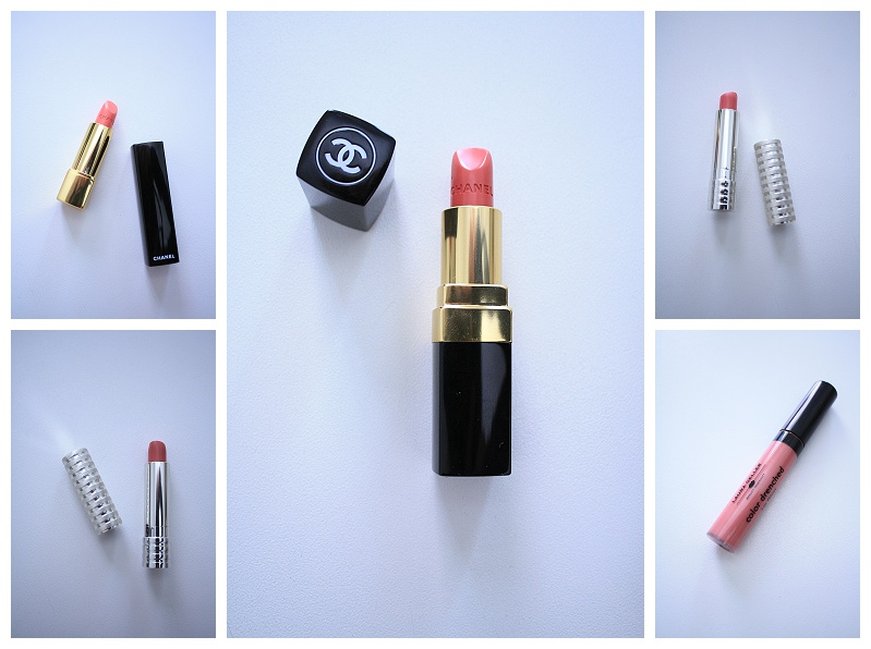 pink lipstick review, spring 2015, chanel rouge coco edith, chanel badine, Laura Gellar french press rose, Clinique soft matte petal, Clinique soft matte beauty, best pink lipsticks, rose lipstick, pink lipcolor review