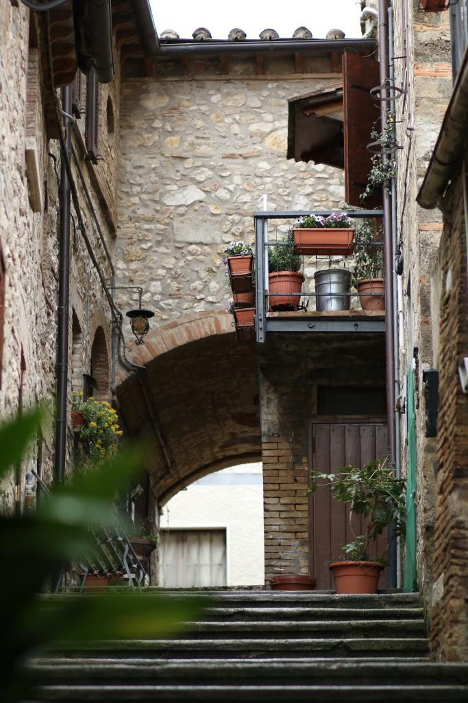 stone steps, apartment, architecture, Umbria Italy