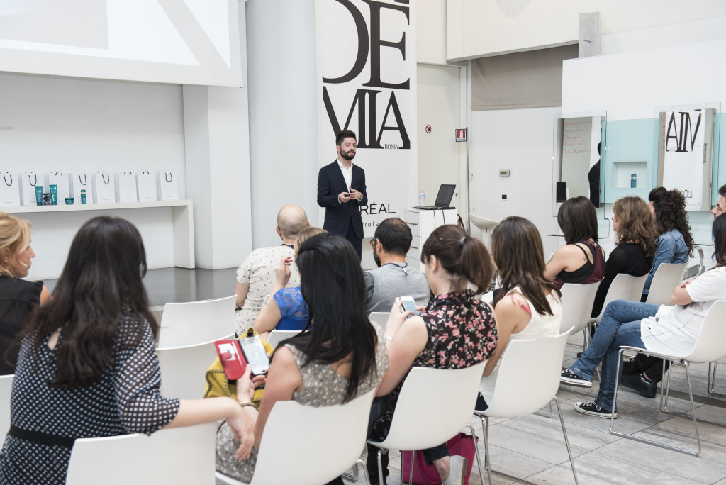 Accademia Roma L'oreal blogger event Kerastase Therapiste trial
