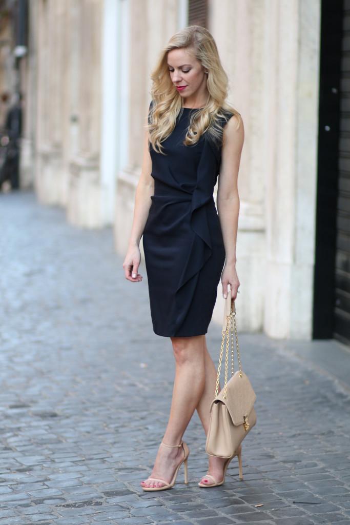 Louis Vuitton Series 2 Event Navy Dress Beige Bag