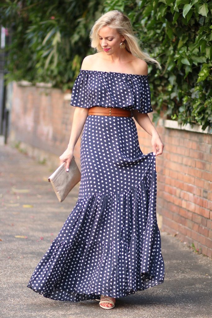 Romantic Ruffles Off The Shoulder Dress Lace Up