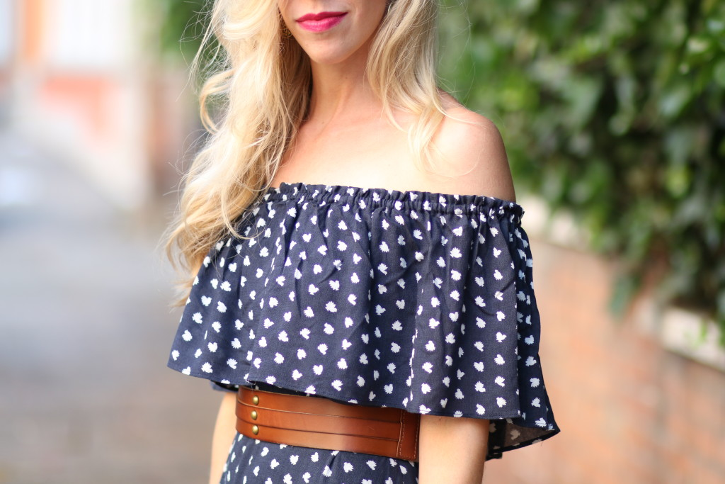 Romantic Ruffles Off The Shoulder Dress Lace Up