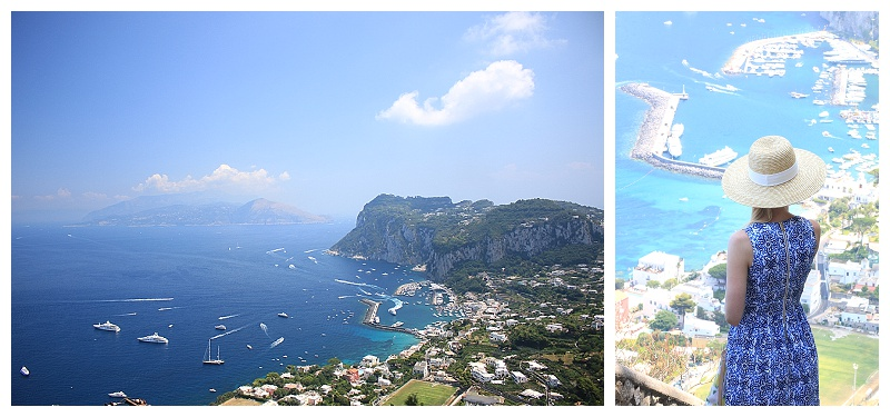 Capri Italy panoramic view, travel blog, what to pack for island vacation
