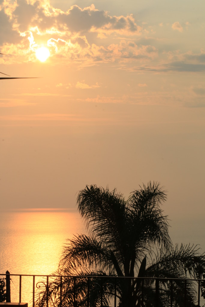 tropical sunset in Anacapri, Italy, photography, travel blog, best places to stay in Capri