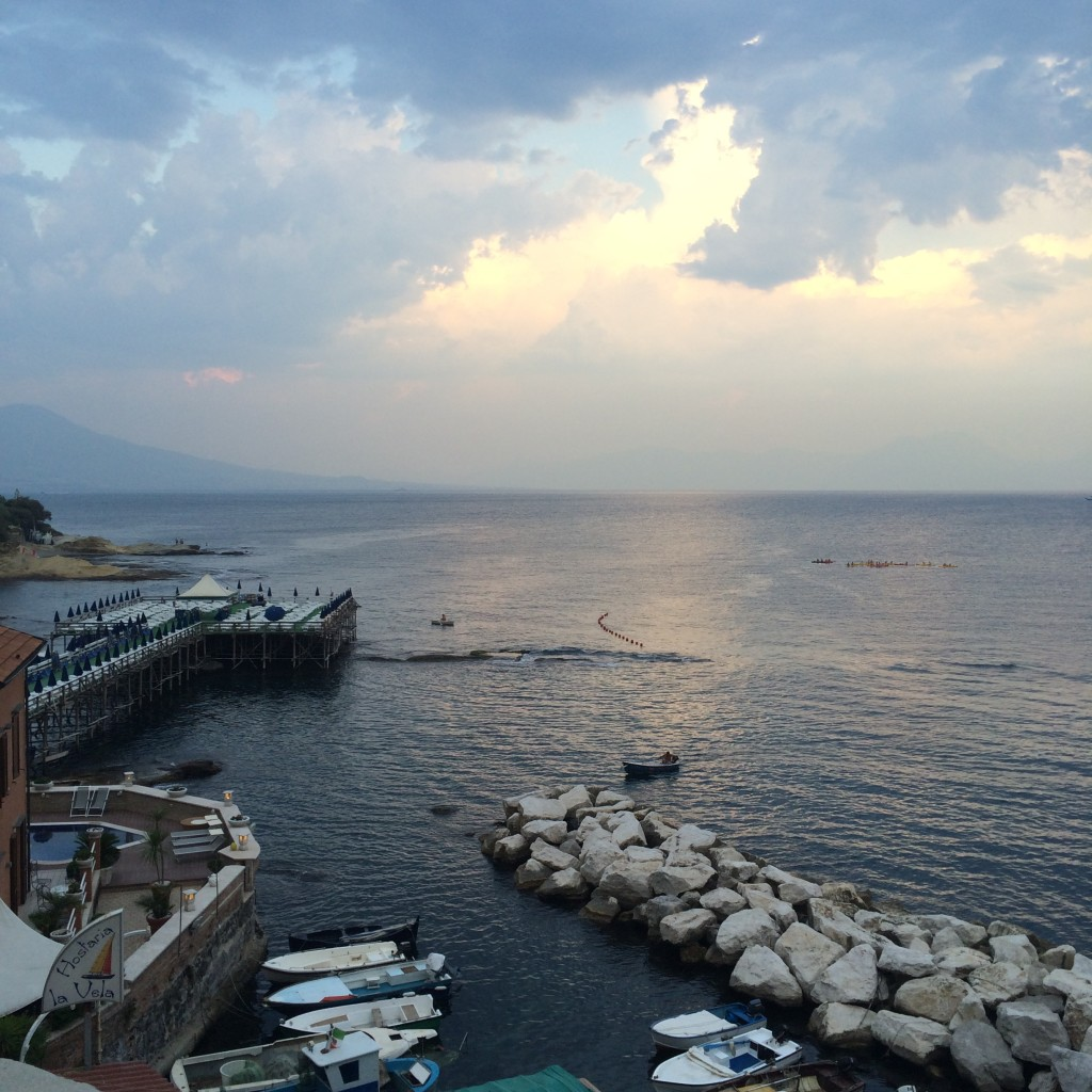 Marechiaro Naples, Italy, travel blogger, view of gulf of Naples with Mt