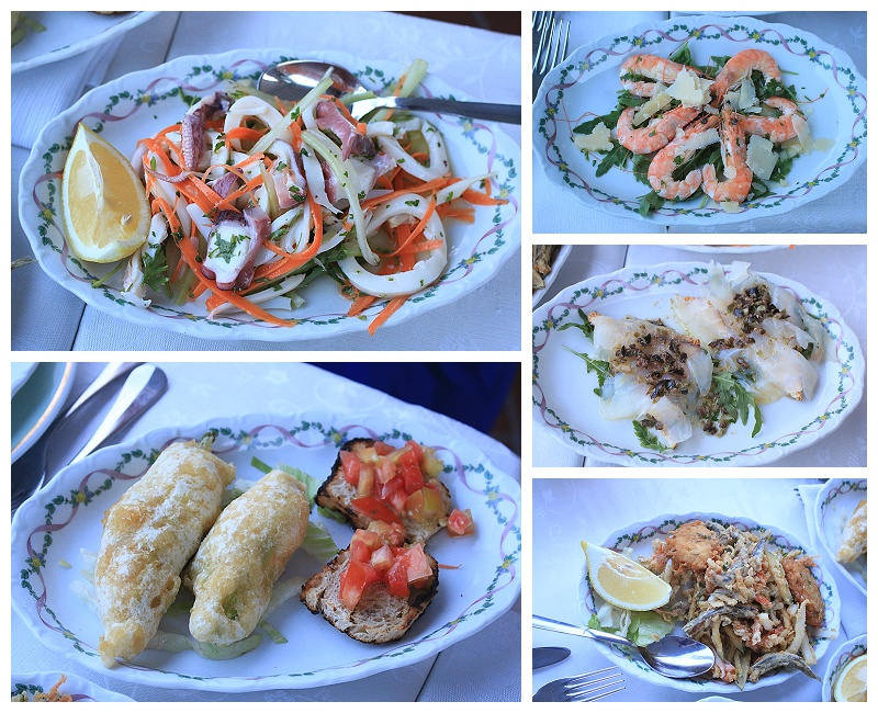 seafood in Naples Italy, Italian apertivo, travel blogger, A Fenestella restaurant