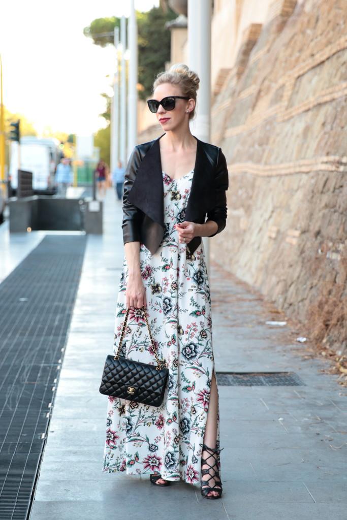 Floral Lace Up Shoes