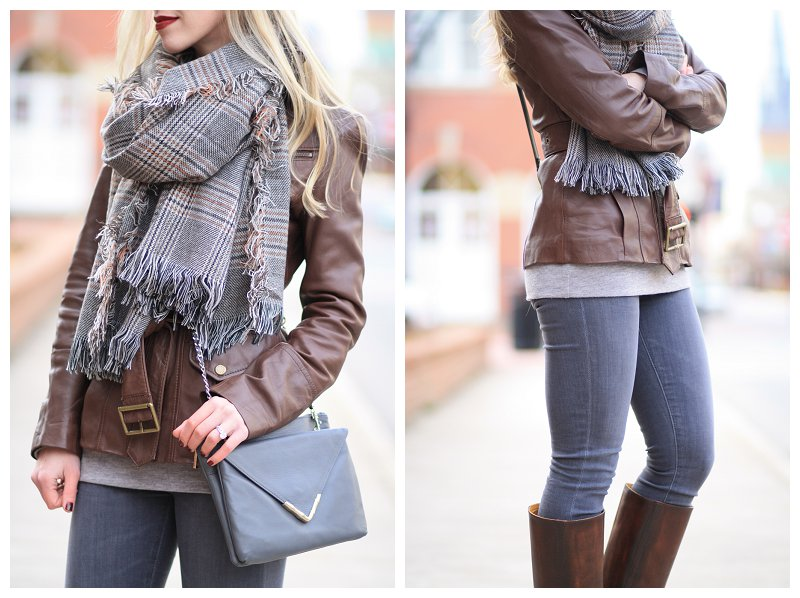 how to style an oversized scarf