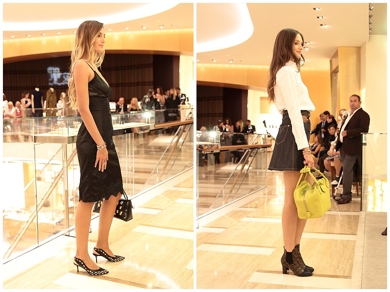 Louis Vuitton runway AW15 fashion show, Rome Italy, denim skirt and booties, 70s inspired