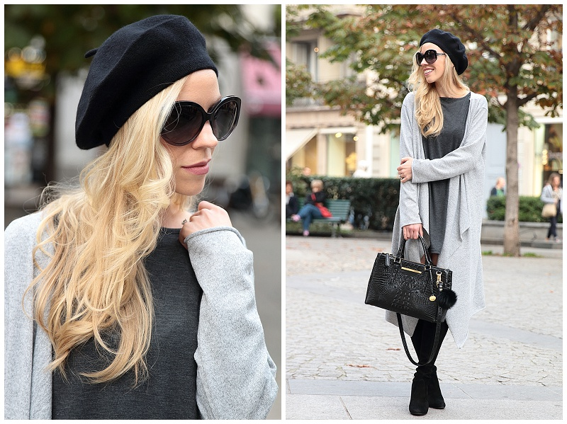 How To Wear A Beret Hat Winter Outfit Maxi Cardigan With Mini Dress Long Duster