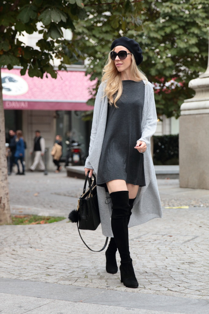 { SheIn Giveaway: Trapeze dress, Long cardigan & OTK boots }
