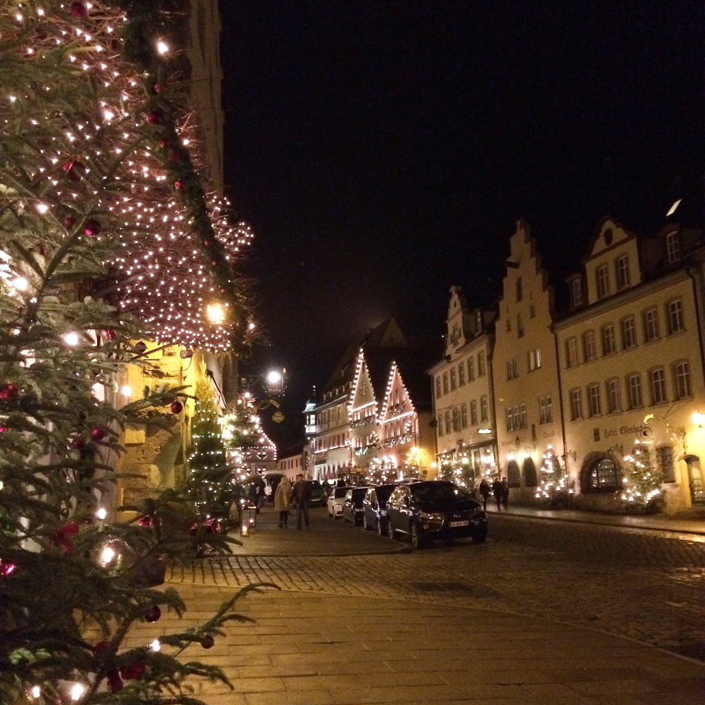 Christmas decorations in Rothenburg Germany, travel blog