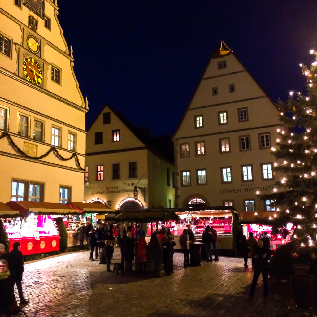 Christmas market Rothenburg Germany, travel blogger