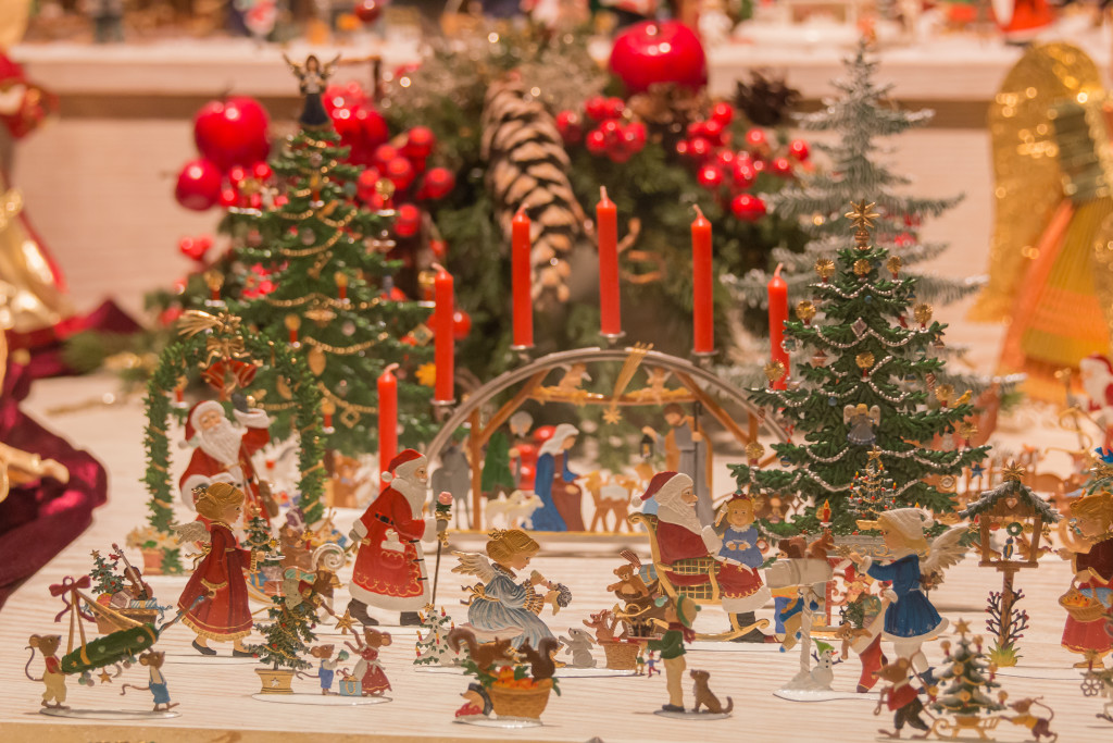 German Christmas decorations, Rothenburg Germany