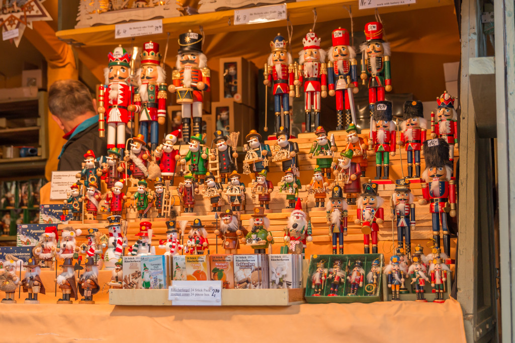 nutcrackers made in Germany, German Christmas market, Rothenburg Germany