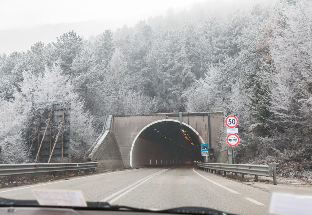 winter in Italy, Abruzzo Italy winter snow