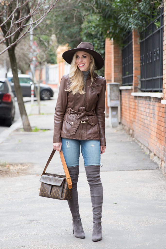 Brown Leather Jacket And Boots Jacketin