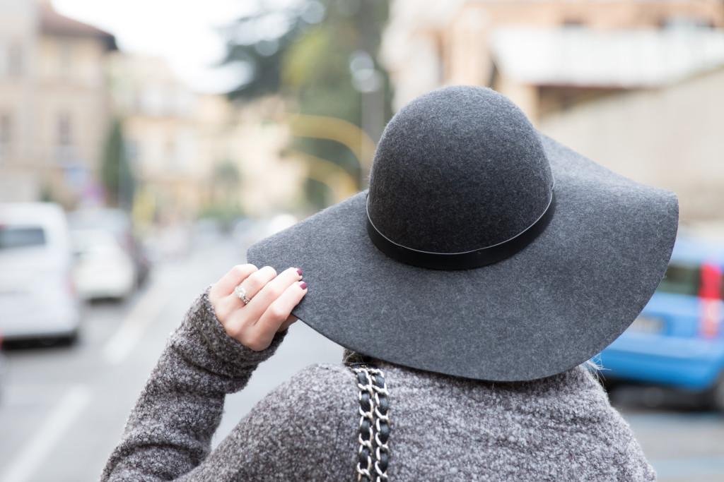 f7f2ef540 H&M gray wool floppy hat - Meagan's Moda
