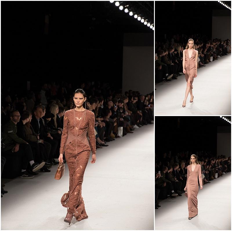 Aigner Munich fall 16 fashion show, pink dress, lace dress