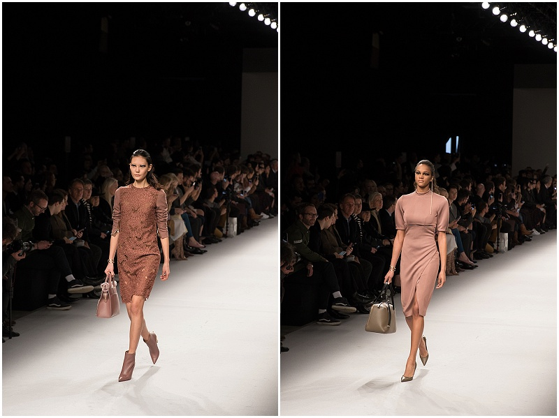 Aigner Munich fashion week Milan FW16, lace dresses, pink dresses
