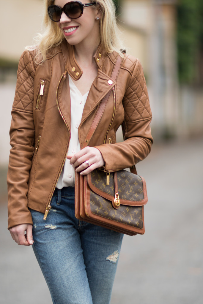 { How to Wear a Leather Jacket for Spring }