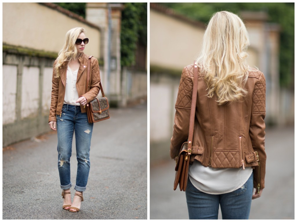 superb light tan leather jacket outfits