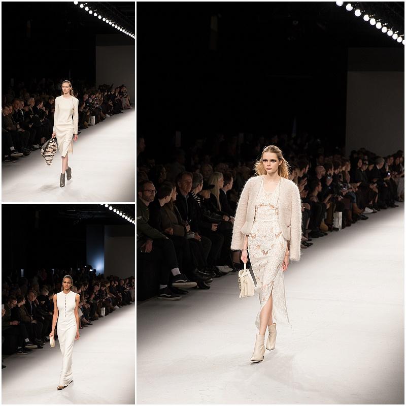 all white looks for fall, Aigner Munich, Milan Fashion Week AW16 runway show