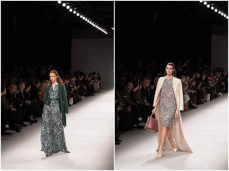 floral print maxi dresses, Aigner Munich AW16 Milan Fashion Week