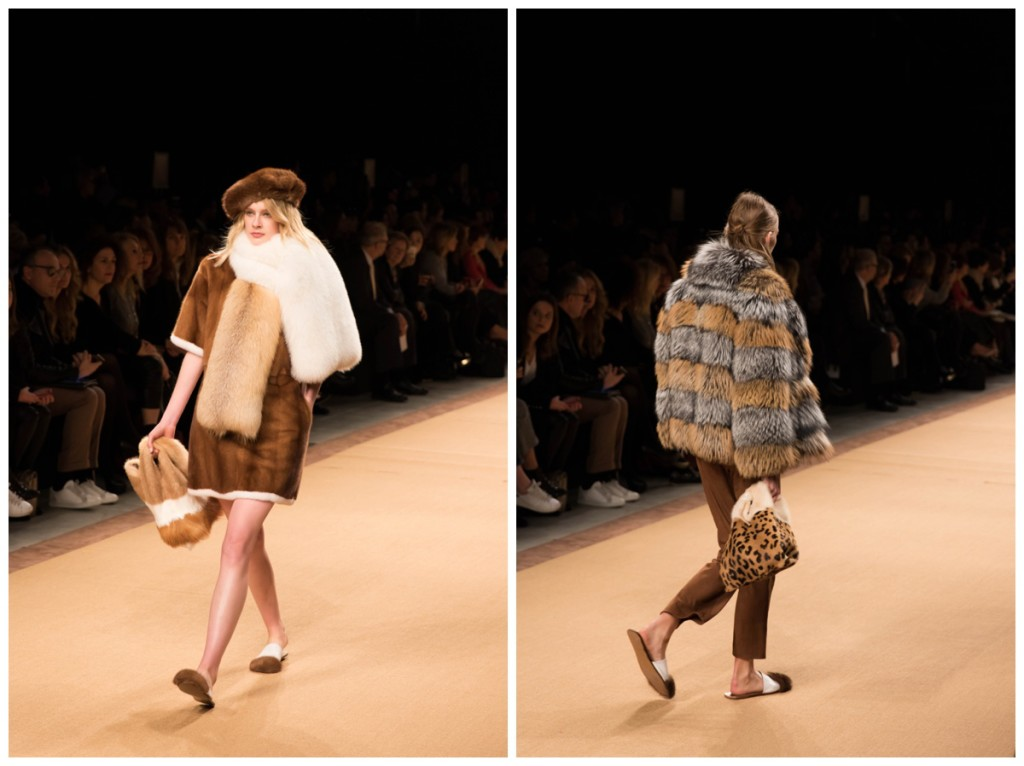 fur stole, gray and brown fur jacket, Furrissima bags, Simonetta Ravizza Milan Fashion Week Fall Winter 16 show