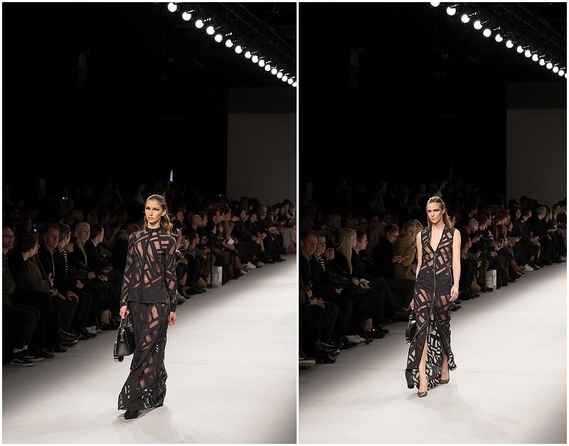 sheer lace dresses, graphic dresses, Aigner Munich, Milan Fashion Week AW16