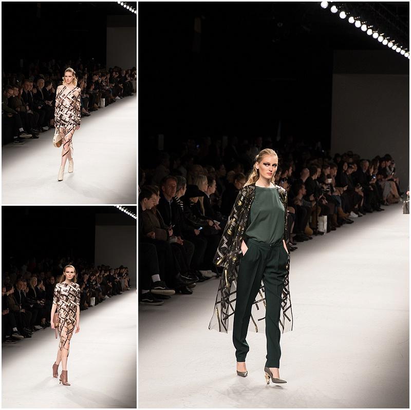 shimmer sheer fabric, Aigner Munich Milan Fashion Week FW16 show