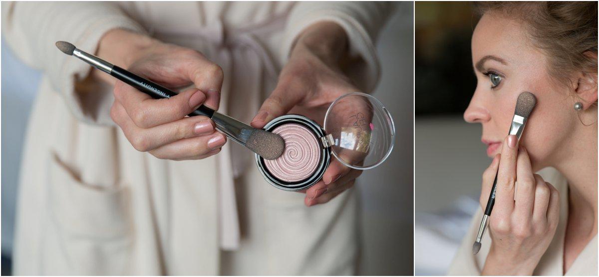 Laura Geller charming pink baked gelato highlighter, how to apply Laura Geller illuminator