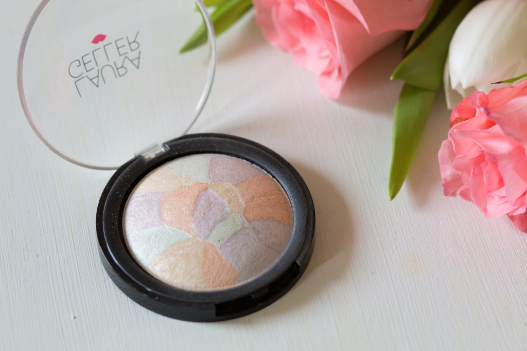 Laura Geller filter finish color corrector finishing powder, how to use color correcting powder