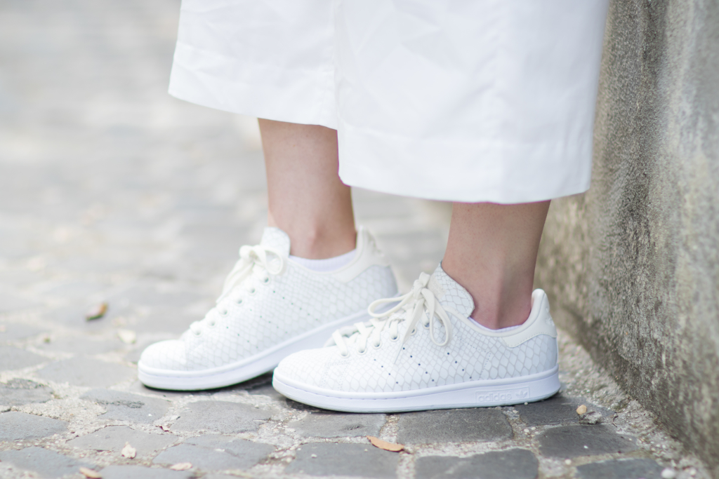 Adidas Stan Smith snakeskin print sneakers